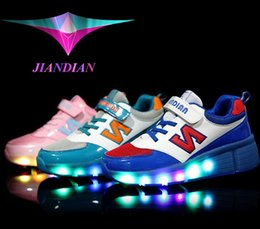 Wholesale Hot Selling Boys Spring - Sell like hot cakes summer breathing shoes child LED sneaker shoes sneaker With wheels girls boys meisjes schoenen
