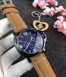 Wholesale Luminous Watches For Men - Hot fashion Casual Sport watch men Quartz Watches Men's leather Wristwatches Clock Relogio Super gift for men#54654897
