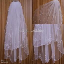 Canada Pas cher voile de mariée robes de noiva vente chaude accessoires de mariage IvoireBlancs Couleurs Événements de mariée en filet tissu Offre