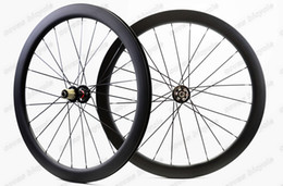 2020 ruedas de ciclocross 700C 50 mm de profundidad 25 mm de ancho ruedas de carbono Freno de disco bicicleta de carretera de bicicleta de carretera de carbono ciclocross Llanta en forma de U Tubular ruedas de ciclocross baratos