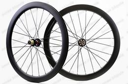 Wholesale Tubular Disc Cyclocross Wheels - Freeshipping 700c bicycle wheels Disc brake cyclocross carbon road bike Disc brake wheels 700C 50mm Clincher  Tubular rim bike wheelset