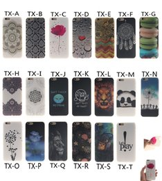 Wholesale S4 Flower Case - FOR IPHONE 5 5S SE 6 6S 6 PLUS GALAXY S3 S4 S5 S6 S6 EDGE S7 S7 EDGE Totem OWL Henna Flower Lion Sex Girl TPU IMD CASE COVER 100PCS