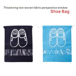Wholesale Fabric Windows - High Quality Thickening Non-woven Fabric Perspective Window Shoe Storage Bag 2 Specifications Can Store A Variety Of Shoes.