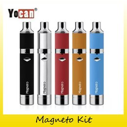 Wholesale Wholesale Connections - Authentic Yocan Magneto Wax Pen Kits & Magneto Ceramic Coils Yocan E Cigarette Kits With Magnet Connection 1100mAh Battery 2204036