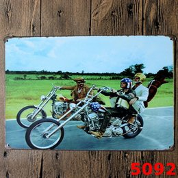 Wholesale Motorcycle Art Paintings - Metal Paintings Wall Motorcycle Vintage Craft Metal Tin Signs Bar Pub Tin Poster Wall Art Iron Room Paintings Legends Never Die 20*30cm