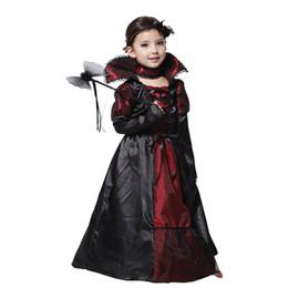 2019 ohne kleider mädchen Kinder Mädchen Vampir Halloween Party Kostüm Spitzenkleid Cosplay Leistung Kleidung Geschenke (Ohne Hand Held) HH7-194 rabatt ohne kleider mädchen