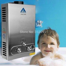 Wholesale Gas Water Boilers - (Ship from Germany) 8 Liter LPG Propane Gas Boiler Instant Tankless Hot Water Heater Stainless Panel with LCD Display