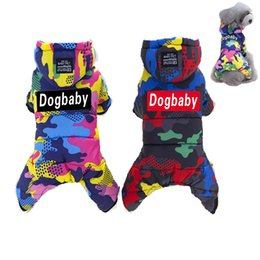 Wholesale Pet Jumpsuits - E3 Brand New Thickness Dogbaby Pet Four Legs Cotton Hooded Clothes Puppy Dog Winter Coat Jumpsuit for Chihuahua Teddy