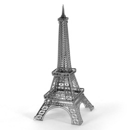 Wholesale Empire State Building 3d - Wholesale- Building Series Eiffel Tower Empire State Building Ferris wheel model 3d metal puzzle children's educational diy assembly toys