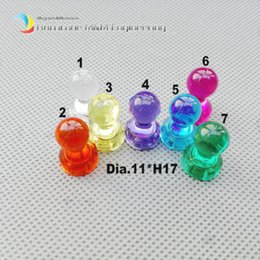 Wholesale Thumbtack Wholesalers - 15 pieces Transparent Drawing Pin Original Color NdFeB magnetic drawing tack for Office Home and School using Magnetic Thumbtack