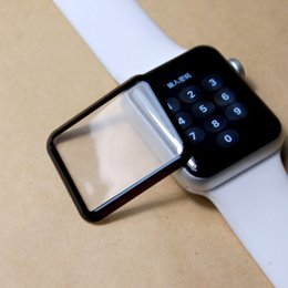 Argentina Para Apple Watch Iwatch 38 mm 42 mm 3D Real Full Screen Protector de pantalla de película de vidrio templado protector Electroplate cubierta con paquete al por menor Suministro