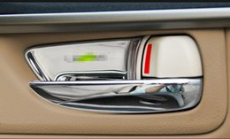 Wholesale lexus accessories - 4pcs Stainless Steel Inner Door Handle Bowl Trim Cover Sequins Decal For Lexus NX200T 200 300h Auto Interior Accessories