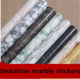 Wholesale Renovation Kitchen - Wholesale-Thickening marble sticky wallpaper wallpaper from kitchen hearth window waterproof paint furniture renovation stickers1334