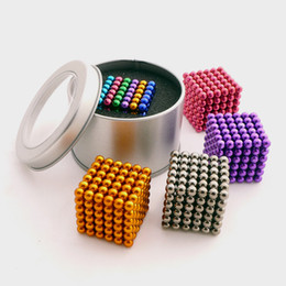 Wholesale Magnetic Ball 5mm - Buckyball 5mm Magnetic Ball Cube Magic Puzzle Metaballs Magnetic Ball Magnet Colorfull Magic Toys 216pcs set 12 colors with box