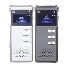 Wholesale Record Audio Card - Wholesale-8GB Digital Audio Voice Recorder Dictaphone VOR voice control recording Built-in speaker support expansion TF card