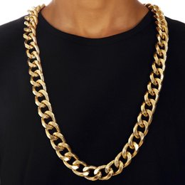 Wholesale Chunky Snake Chain Necklace - 90CM Big Chunky HipHop Gold Chain for Men Jewelry Wholesale Gold Plated Thick Heavy Chaine Necklace Bijoux Homme Y#134