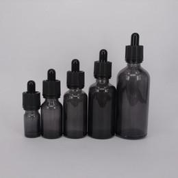 Wholesale Bottles For Medicine - Empty perfume bottle glass pipette dropper e liquid vape bottle boston round clear black unicorn squeeze bottle for medicine liquid no leak
