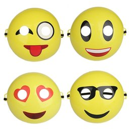 Wholesale Smile Face Mask - Creative Emoji Smile Mask 3D Plastic Cosplay Festival Party Mask Full Face Costume Prop Funny Toy Halloween Supplies ZA3637