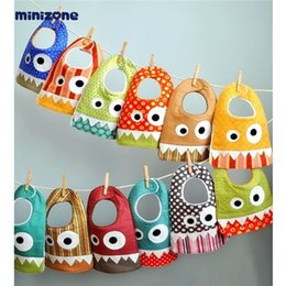 Wholesale Bibs Baby Scarf - INS explosion small monster mouth saliva towel baby cotton scarf bib pocket baby child child mouth 15 style.free shipping