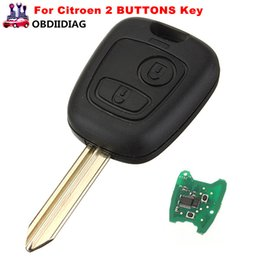 Wholesale Citroen Key Button - 2 BUTTONS 433MHz REMOTE KEY FOB BLADE WITH TRANSPONDER CHIP Key Fob For Citroen Saxo Picasso Xsara Berlingo