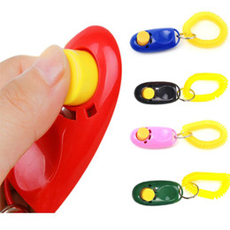 Wholesale Cheap Wholesale Pet Products - Dog Pet Click Clicker Training Wristband Multicolor Trainer Aid Wrist Strap Cheap Puppy Train Tool Wholesale