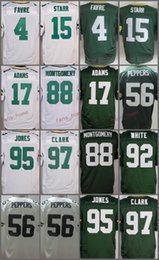 Wholesale Bart Shorts - Men's Elite Jersey 4 Brett Favre 15 Bart Starr 17 Davante Adams 56 Julius Peppers 88 Ty Montgomery 95 Datone Jones 97 Clark Green 92 White