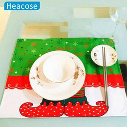 Wholesale Green Christmas Tablecloth - Wholesale-2016 Hot Christmas decorations Tablecloths ornaments printed fairy new year Decoration for Home Dinner Table navidad P30