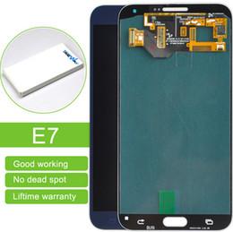 samsung e7 lcd Rebajas A estrenar Un grado Reemplazar LCD frontal LCDs Reparación para Samsung Galaxy E7 LCD envío gratis