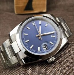 Wholesale Silver Name - 2017 Fashion Brand Name Automatic Mens Lovers' Sport Watch Luxury Black, Blue Mechanical Water Resistant Auto Date WristWatches watches