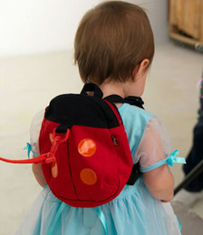 Wholesale Baby Kid Keeper Safety - 2 Styles Baby Kid Keeper Toddler Safety belt Backpack Bag Strap Rein Baby ladybug Anti-lost Walking Wings Bags Backpacks B001