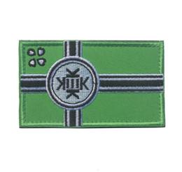50 PCS KEK Drapeau Attache Biker Vert Emblème Costume Badge Tactique Crochet Boucle Armée Morale Brodé Patch En Gros ? partir de fabricateur
