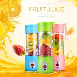 Wholesale Electric Machine Portable - Electric Fruit Juicer Machine Mini Portable USB Rechargeable Smoothie Maker Blender Shake And Take Juice Slow Juicer Cup 3 Colors