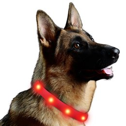 Wholesale Waterproof Led Light Collar - Lalawow LED Dog Glow Collar USB Rechargeable FREE Size 3 Modes Completely Waterproof for Night Walking