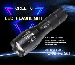 Wholesale Function High - Flashlights Tactical Led Flashlight Torch Flash Light Tac Light Water Resistant Handheld Flashlight with Zoom Function uv Flashlight torch