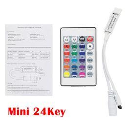 Wholesale Smd Led Dimmer - DC 12V 24 Keys 44Keys RGB Dimmer IR Remote Colors Controller   Control For LED Strip light SMD 3528   5050   2835