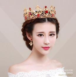 Wholesale Red Accesories - 2017 bride wedding accesories tiaras hair tiara crown Crystal Rhinestone Wedding accessories wholesale TS112