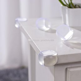 Wholesale round table furniture - Children Baby Strip Safety Round Protector Glass Table Desk Shelf Furniture corner cover For Infant C3174