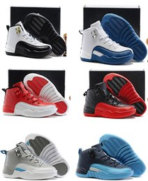 Wholesale A3 Quality - Style Air Retro 12 Kids Shoes Children J12s Basketball Shoes top Quality Sports Shoes Youth Sneakers For Sale Size: US11C-3Y EU28-35