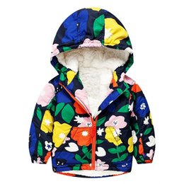 Wholesale Clothing Coats Jackets - Kidsalon Girls Down Coat Brand Flower Children Outerwear Boys Jackets Wool Fleece Hooded Kids Down Jackets for Girls Clothes