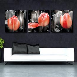 Pintura a óleo conjunto cavalos on-line-3 Pçs / set branco e vermelho flores Cavalo Imagem Arte Decorativa Pintura A Óleo Sobre Tela Moderna Casa Pintura de Parede Da Lona Arte HD # 117