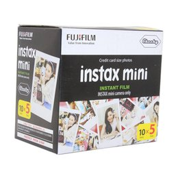 Wholesale Instax Mini Instant Film - Fuji Fujifilm Instax Mini 8 Film White Edge Photo Papers For Polaroid 7s 90 25 55 Share SP-1 Instant Camera 50 sheets