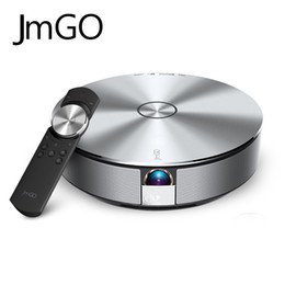 Wholesale Dlp Projector Android - Wholesale- JmGo G1 Bluetooth USB Video Support 4K Android Airplay For Smart Phone Wifi Micro DLP Mini PhonePortable Intelligent Projector
