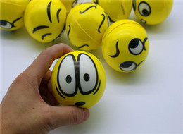 Wholesale Assorted Sports - BFAA52 Emoji Faces Ball Squeeze Stress Ball Hand Wrist Finger Exercise Stress Sphere Relief Therapy - Assorted Styles
