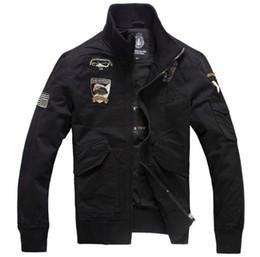 Wholesale L Style Flights - Men's New Air Force One Bomber Jackets Men Plus Size M-4XL Military Style Pilot Jackets Men Flight Jackets And Coats