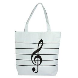 Wholesale Bag Musical Note - New 2017 Women Girls Canvas Musical Shopping Shoulder Bag Notes Totes Handbag Large High Quality