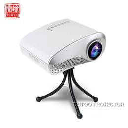Wholesale Vga Tuner - Wholesale- New White 200lumens LED 3D projector,Electric Zoom Portable Video Pico Micro Small Mini tv Projector,HDMI USB AV VGA TV Tuner