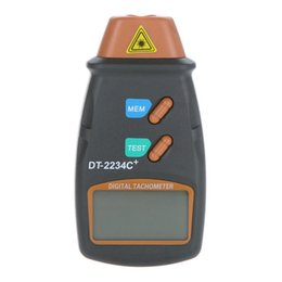 Wholesale Digital Rpm - Wholesale- Noncontact Tach Tool RPM Handheld Digital Photo Laser Tachometer Meter