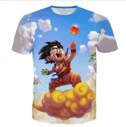 Wholesale Happy T Shirt - Newest Fashion Womens mens Dragon Ball Z Blue Sky Cloud Happy Guku Funny 3D Print Casual T-Shirts XTX04