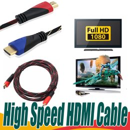 Wholesale Nylon Hdmi Cable - High Speed HDMI to HDMI Cable Version1.4 Nylon Braided 1.5M 2M 3M 5M Male to Male Cable Adapter for 1080P PS3 HDTV LCD