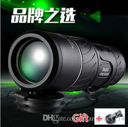 Wholesale Night Vision Infrared Telescope - 2017 Newest !!! High-power High-definition Low Light Night Vision Monocular Telescope Non-infrared Concert Military Binoculars 30X52 Free